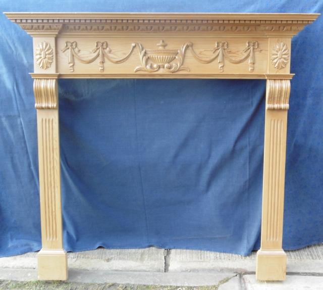 Pine fireplace surround