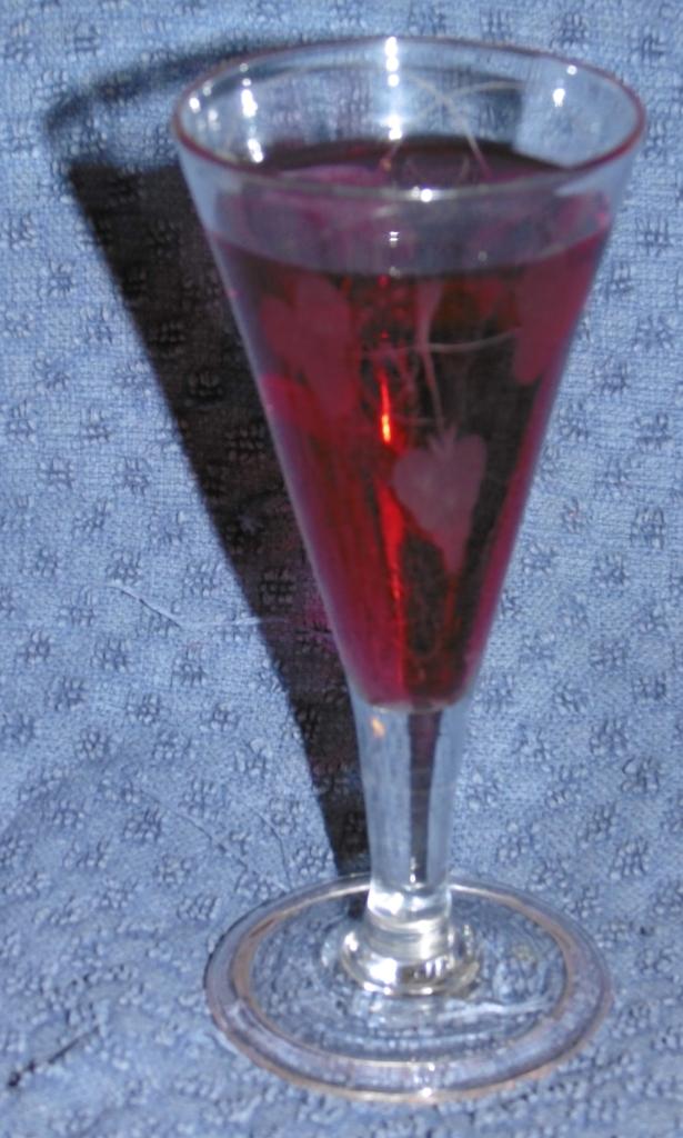Georgian Ale Glass, with Home Made Sloe Gin!