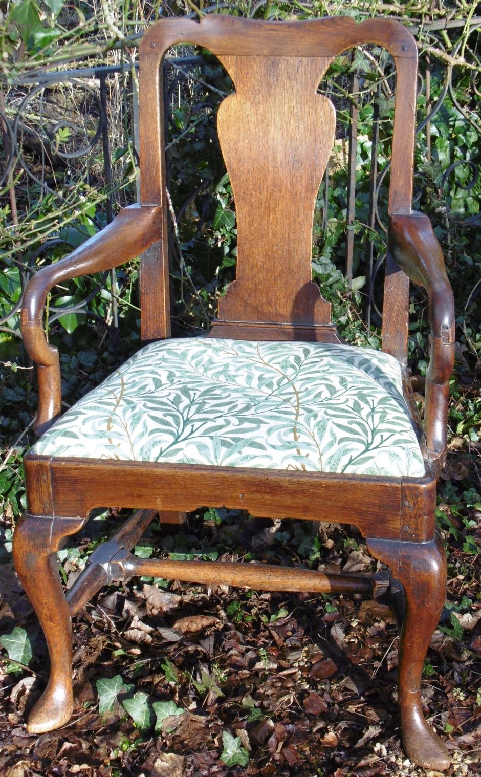 Large Comfy Oak Armchair
